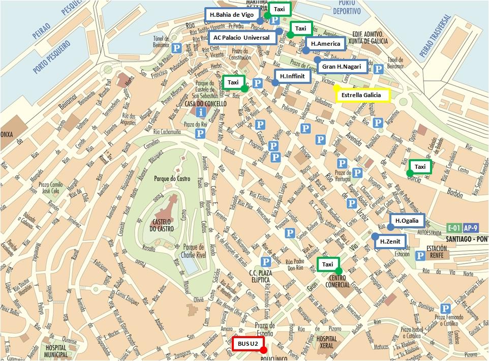 Map Of Spain Vigo.Grupo De Investigacion En Aplicaciones Del Laser Universidad De Vigo